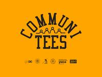Communi-tees nonprofit teeth logo design vintage logotype ohio columbus tshirt tee tees