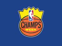 NBA Champs logo illustration sports basketball logo logo branding hoops basketball vintage logo vintage champions champion king nba
