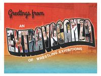 Pro Wrestling Postcard