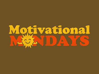Mondays retro typogaphy sunshine 70s cooper sunny sun homage illustration vintage logo