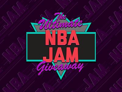 NBA JAM Giveaway Logo vintage sports basketball logo slam dunk 90s video game art retro logo video game basketball 16bit nba jam nba boomshakalaka