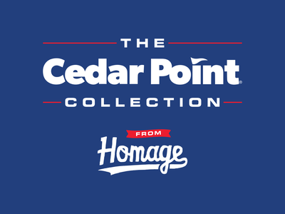 Cedar Point Store Signage sign ohio retro homage sandusky theme park roller coaster amusement park cedar point print design signage