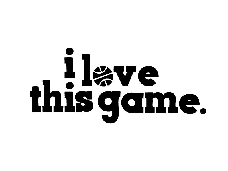 i love this game. game hoop ball sports logo basketball nba