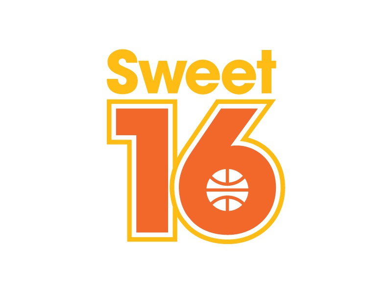 Sweet 16 dribbble bball logo sports march madness basketball sweet 16