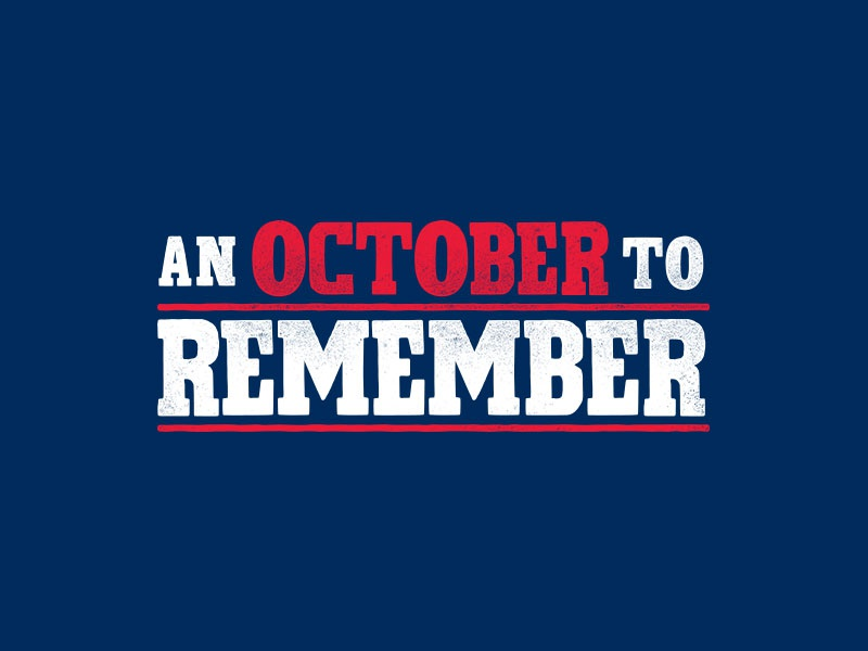 An October to Remember october playoffs type dinger mlb baseball cleveland