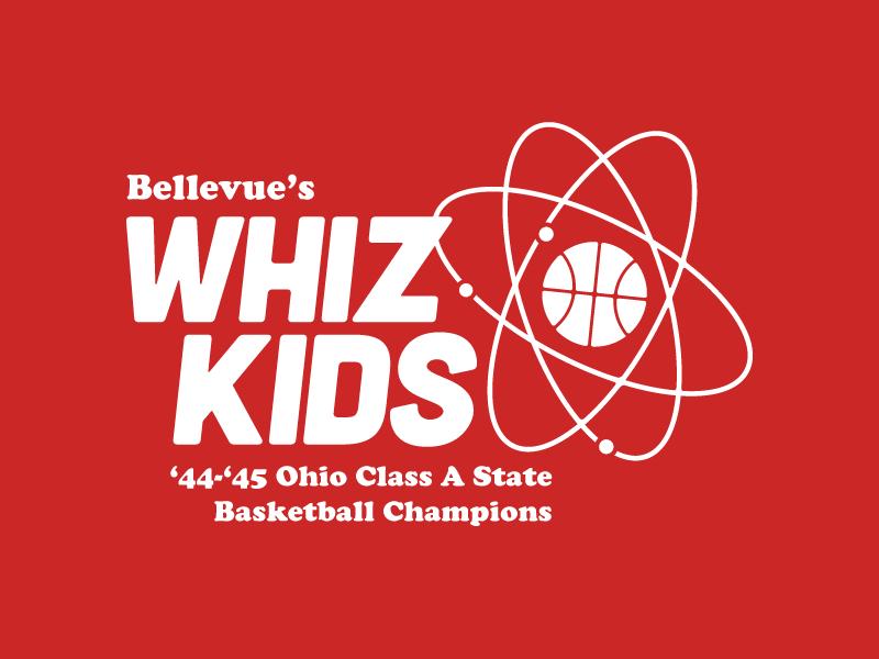 Whiz Kids high school vintage tshirt icon atom basketball whiz kids bellevue ohio firelands