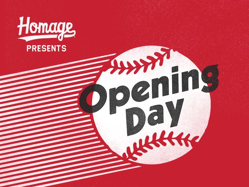 Opening Day motion logo icon opening day homage sports baseball