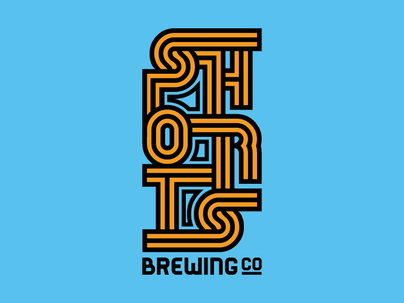 Shorts Brewing Co. brewery typography type sans serif vintage michigan lines thick retro beer
