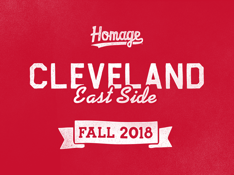 East Side sports cleveland rough vintage banner signage texture type