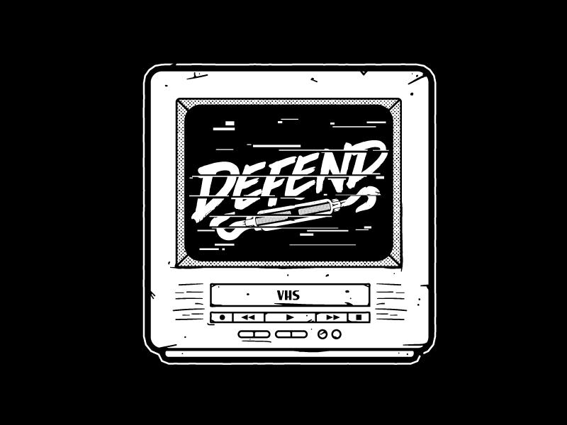 Defend Wrestling vhs television illustration indy defend pop punk wrestling static tv