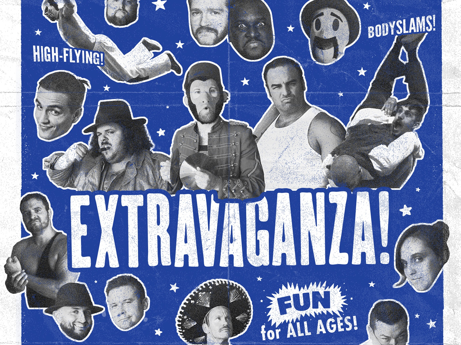 It's an EXTRAVAGANZA!! extravaganza ohio roaring 20s 1920s wrestling pro wrestling poster vintage