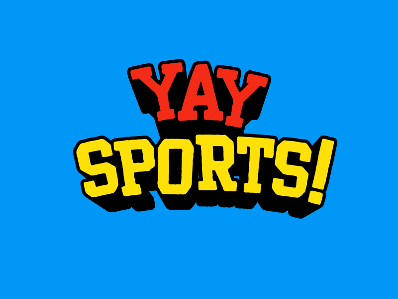 Yay Sports! yay varsity vintage bright sports custom type logo type