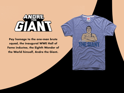 Andre The Giant vector giant homage promotional design website banner web ad wwe wwf wrestling pro wrestling andre the giant