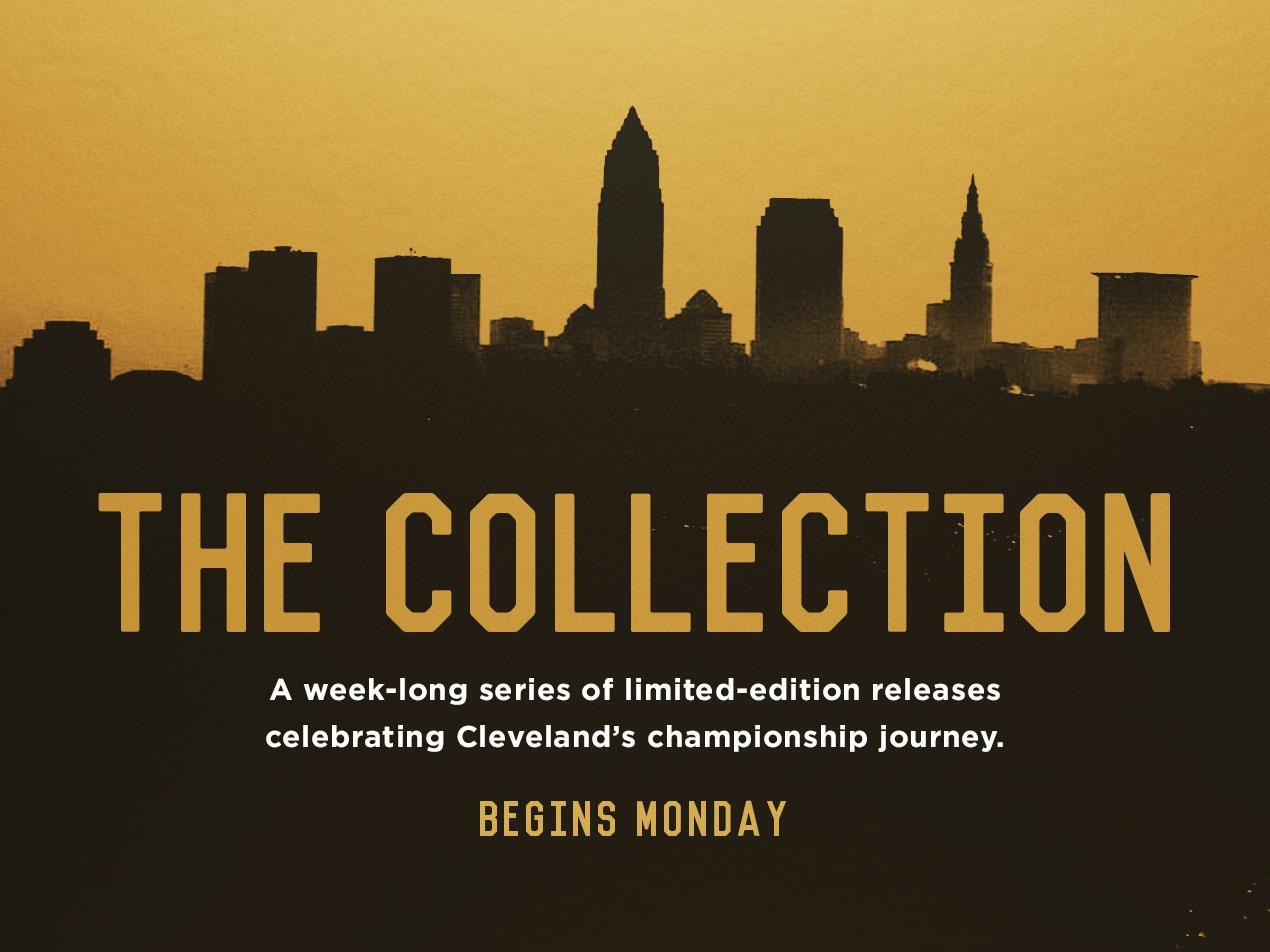 The Collection champion cavaliers cleveland cavaliers cavs skyline gold marketing campaign web ad dribble bball basketball sports ohio cleveland lebron james lebron