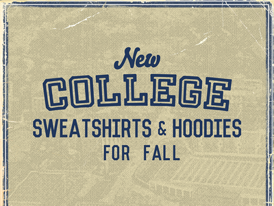College Type Headline retail design email marketing email campaign email design email ui ohio kentucky wvu xavier msu campus headline type retro homage vintage college sports college football college