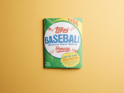 Topps '84 Packaging trading cards trading card vintage package design 1984 bubble gum packaging all star homage baseball card topps baseball