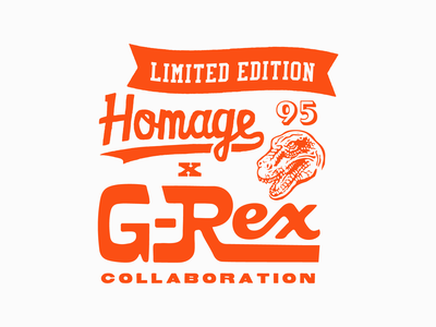 G-Rex Collaboration Treatment football logo dinosaur vintage logo cleveland cleveland browns vintage type design type 95 myles garrett myles garrett football
