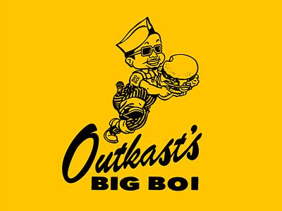 Outkast's Big Boi fast food big boy vector illustration rap hip hop big boi outkast