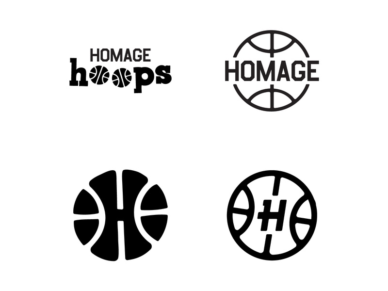 HOMAGE Hoops Icons instagram slam dunk line art iconography vector icon basketball nba homage hoops