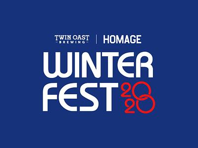 Winter Fest logo concept olympics type sans serif brewing brewery logo design bauhaus olympic logo