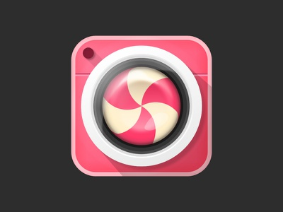 Candy Camera design icon app sweet camera candy