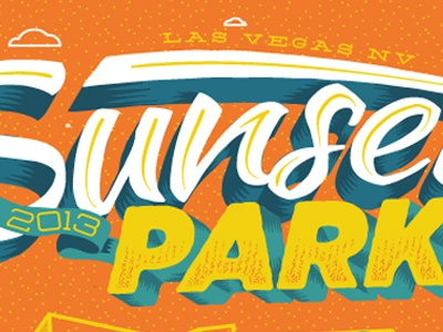 sunset park'd wip typography illustration lettering