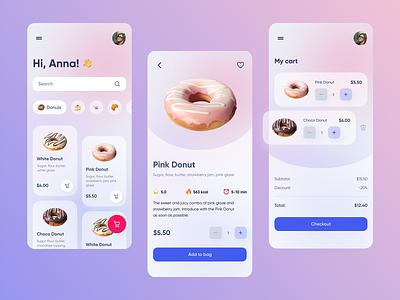Sweet app light mobile ios clean app design 2d app ui design