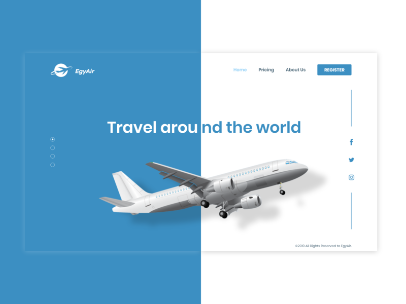 EgyAir LandingPage ui uiux uidesign appdesign website web ux  ui ux designer ui  ux design ui deisgn webdesign ui design ux uiux design uidesign