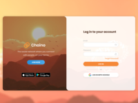 Chaino Login Page Redesign