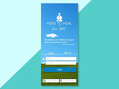 Meditation Coach App expert responsive webapp user experience interface mobile app design mindfulness coach meditation health web design user interface ux ux design ui