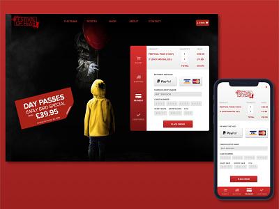 Film Festival Checkout horror movie checkout uidesign dailyui filmfestival creditcardcheckout
