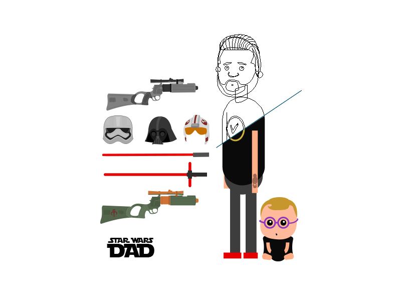Star Wars Dad Elements wars star