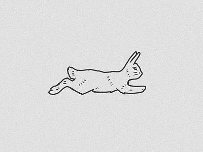 Alpha Bunny running rabbit bunny illustration