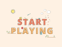 Start Playing website elements