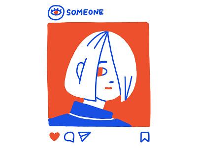 Someone minimal portrait instagram post instagram procreate kosko dribbble illustration
