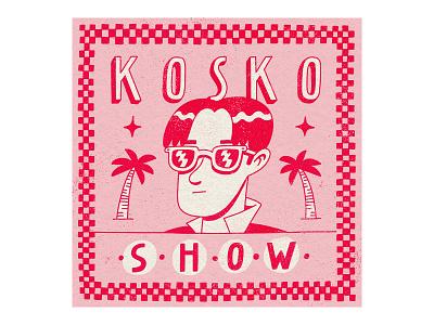 Show art album cover album cover cartoon minimal procreate kosko dribbble illustration