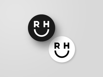 Smile Coasters mockup mark logo stickermule blackandwhite monogram smile coaster brand