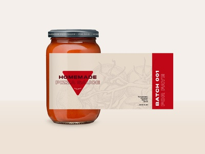 Homemade Pizza Sauce mason sauce label gift homemade tomato pizza jar mockup brand logo