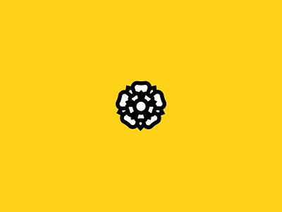 Yorkshire, Yorkshire! flower white rose tour de yorkshire yellow emblem icon crest tee yorkshire day