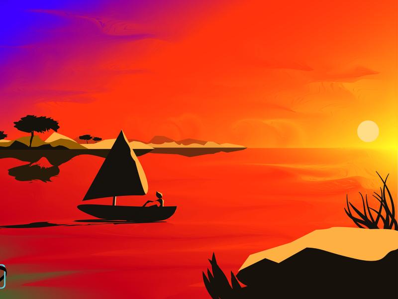 Sun will raise again digital 2d design illustration