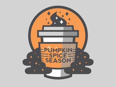 Pumpkin Spice Season pumpkin october coffee spice sticker minimal halloween spooky
