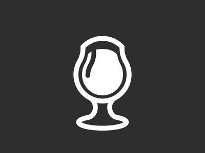 Snifter alcohol glass beer icon illustration snifter