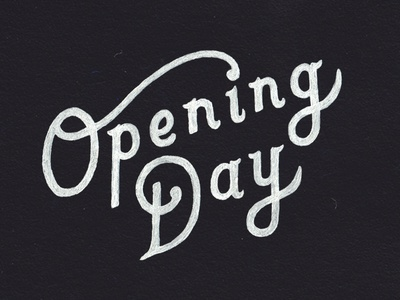 Opening Day hand lettering typography opening day mlb baseball