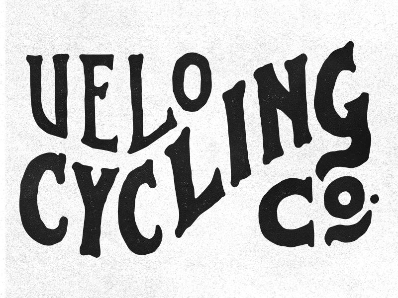 VELO bicycle bike velo lettering branding typography
