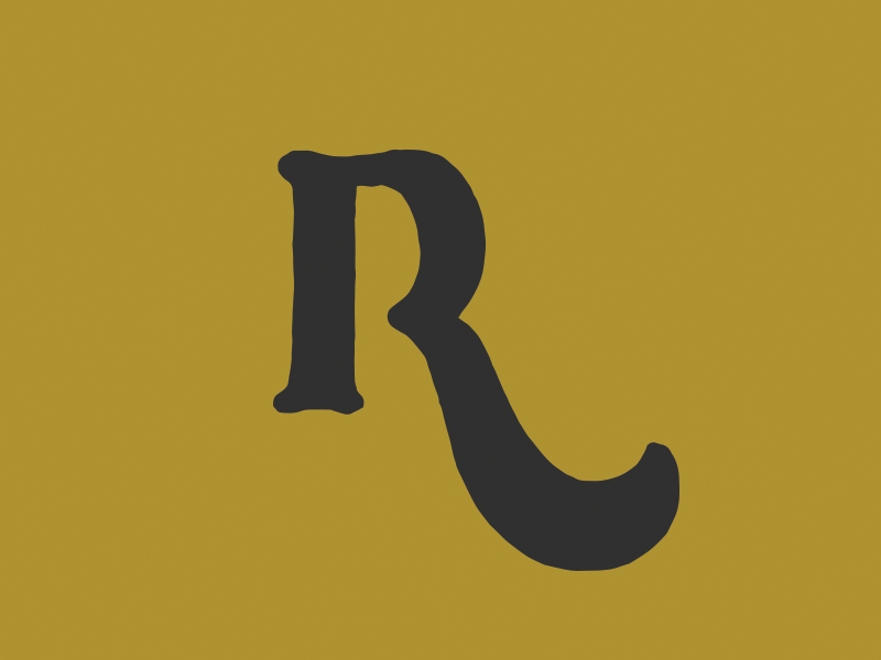 """""""R"""" swash lettering typography r"""