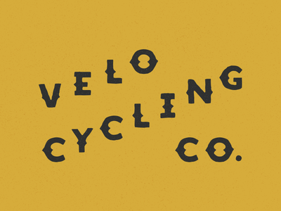 VC CO. typography lettering company cycling velo