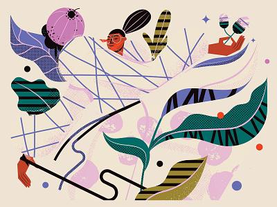 Fall design illustration illustrator textures vegetal vector character pattern
