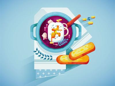 Oeuf Meurette illustrator digitalart bouchon vector texture lyon oeufmeurette