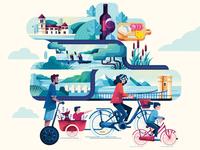 Bike along the Rhône !