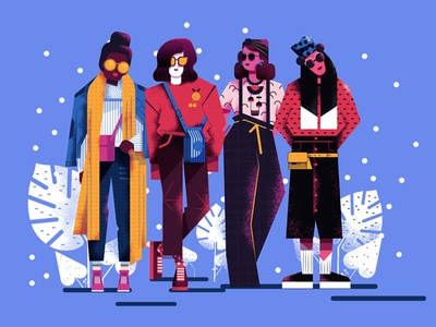 Girls! characters fashion style vector gang girls